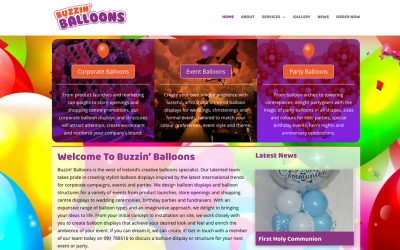 New Website for Buzzin' Balloons